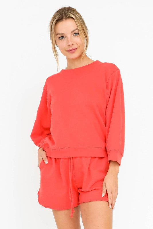 Olivaceous Poppy Pullover