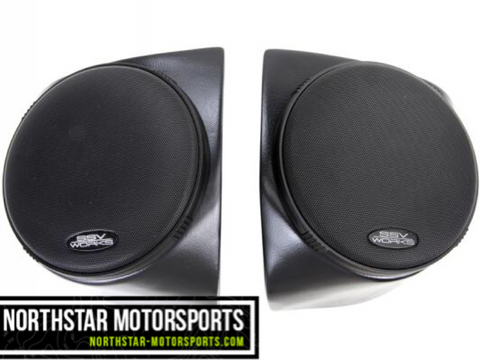 "SSV WORKS Kawasaki Teryx and Teryx4 2014+ Front Speaker Pods with 120 watt 6 1/2"" speakers"