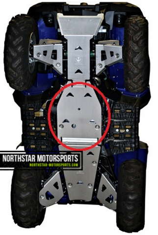 PRO ARMOR Yamaha Grizzly 700 Mid Skid Plate