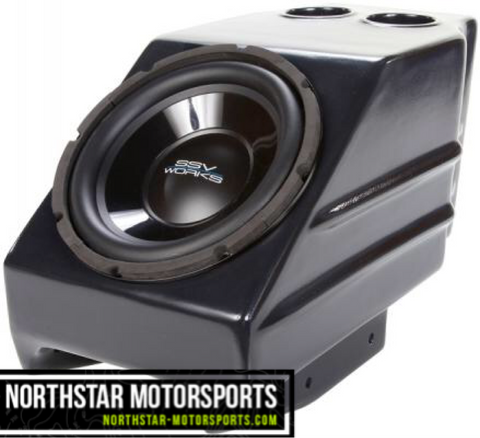 "SSV WORKS Kawasaki Teryx Center Console Weather Proof Sub Box with Amplified 10"" woofer"