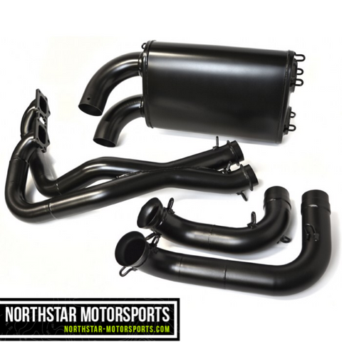 BMP 2015-Up RZR 900, S 1000, General Full X-Pipe Exhaust System