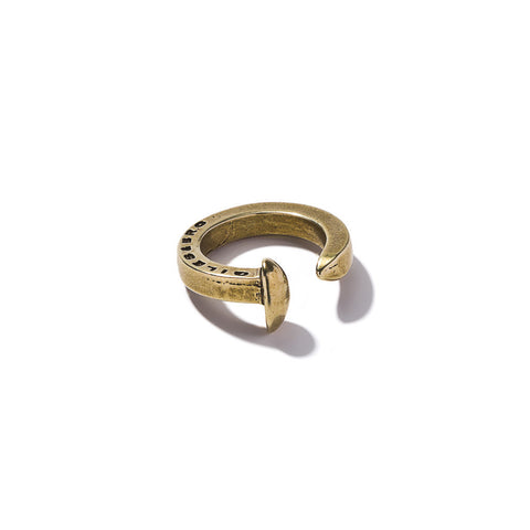Railroad Spike Ring - Brass