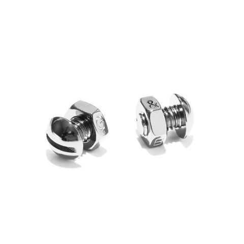 Nut & Bolt Cufflinks - Silver Oxide