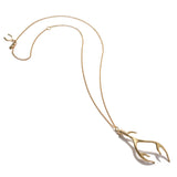 Large Antler Necklace - Gold