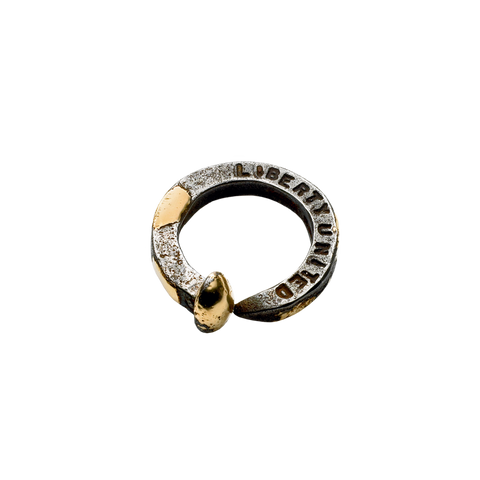 Black Gunmetal & Gold Ring