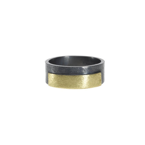 Gold & Sterling silver band