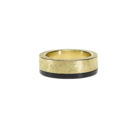 Gold & Black Jade Band