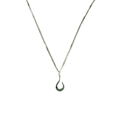 Medium Hook Necklace Sterling Silver
