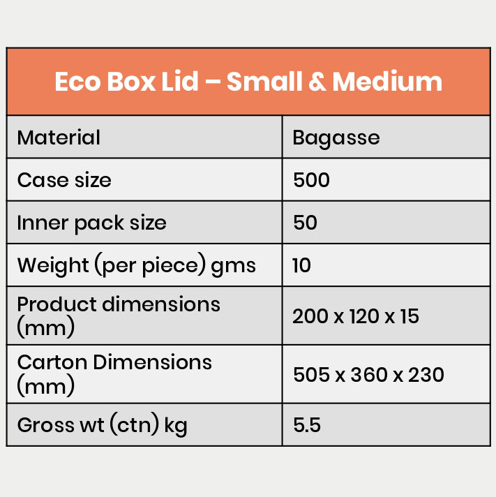 Eco Box Lid (For small & Medium)