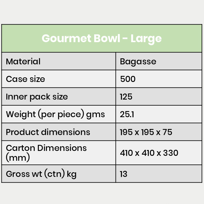 Gourmet Bowl Large