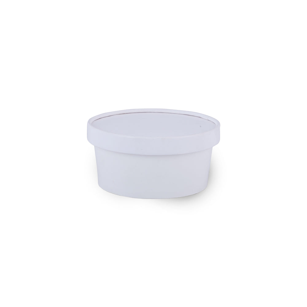 180ml White Paper Tub Food Delivery Container