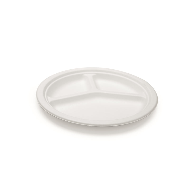 "10"" Three Compartment Plate(50)"