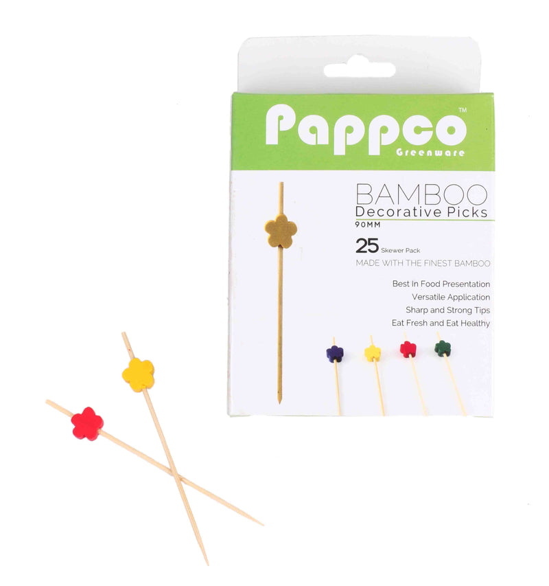 Pappco Greenware 4 Inch Short Decorative Picks (Pack Of 200)