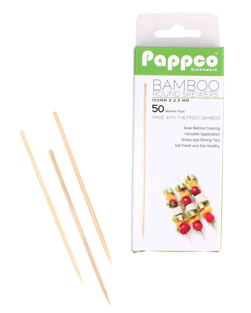 Pappco Greenware 4 Inch Bamboo Round Skewer (Pack of 200)
