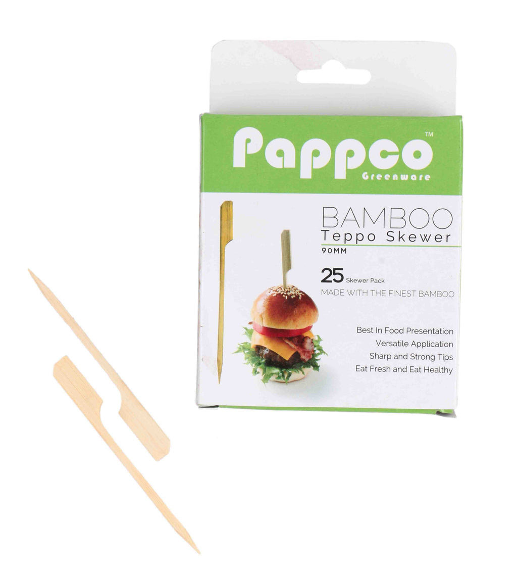 Papppo Greenware 4 inch Bamboo Teppo Skewer (Pack of 200)