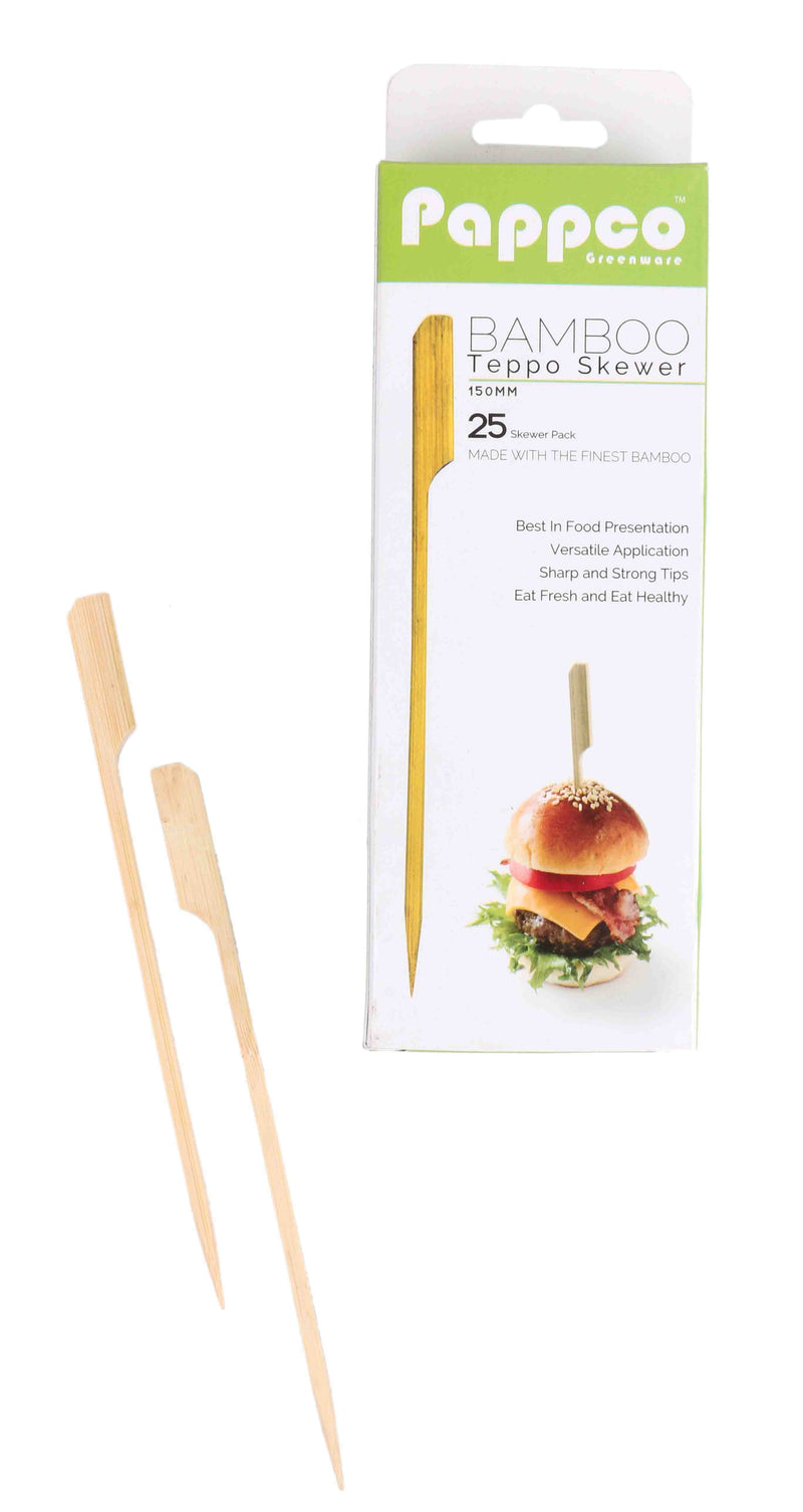 Pappco Greenware 6 Inch Long Teppo Skewers (Pack Of 200)