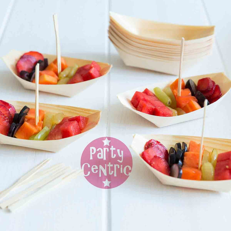 Party Centric 7 Inch Medium Pine Boat (Pack Of 1000)