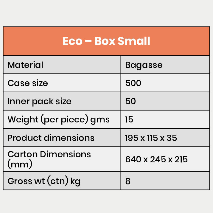 Details of small size eco box