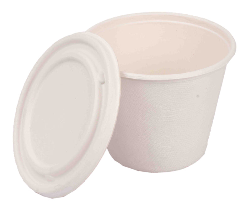 Pappco Greenware 425 ML Bucket Bowl With Lid (Pack Of 10)