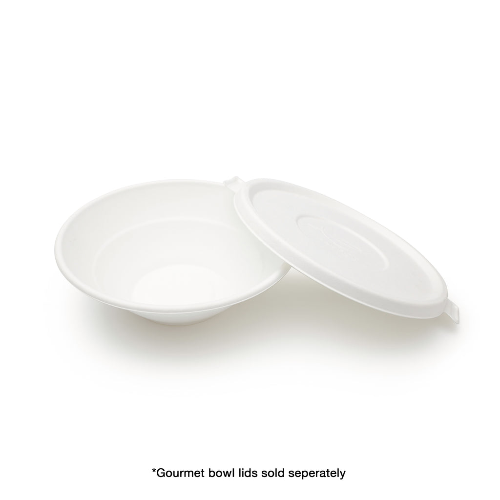Bagasse Food Takeaway White Bowl With Lid
