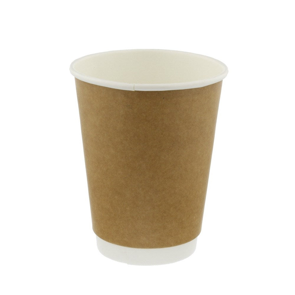 12oz 350ml Brown Double Wall Paper Coffee Cups