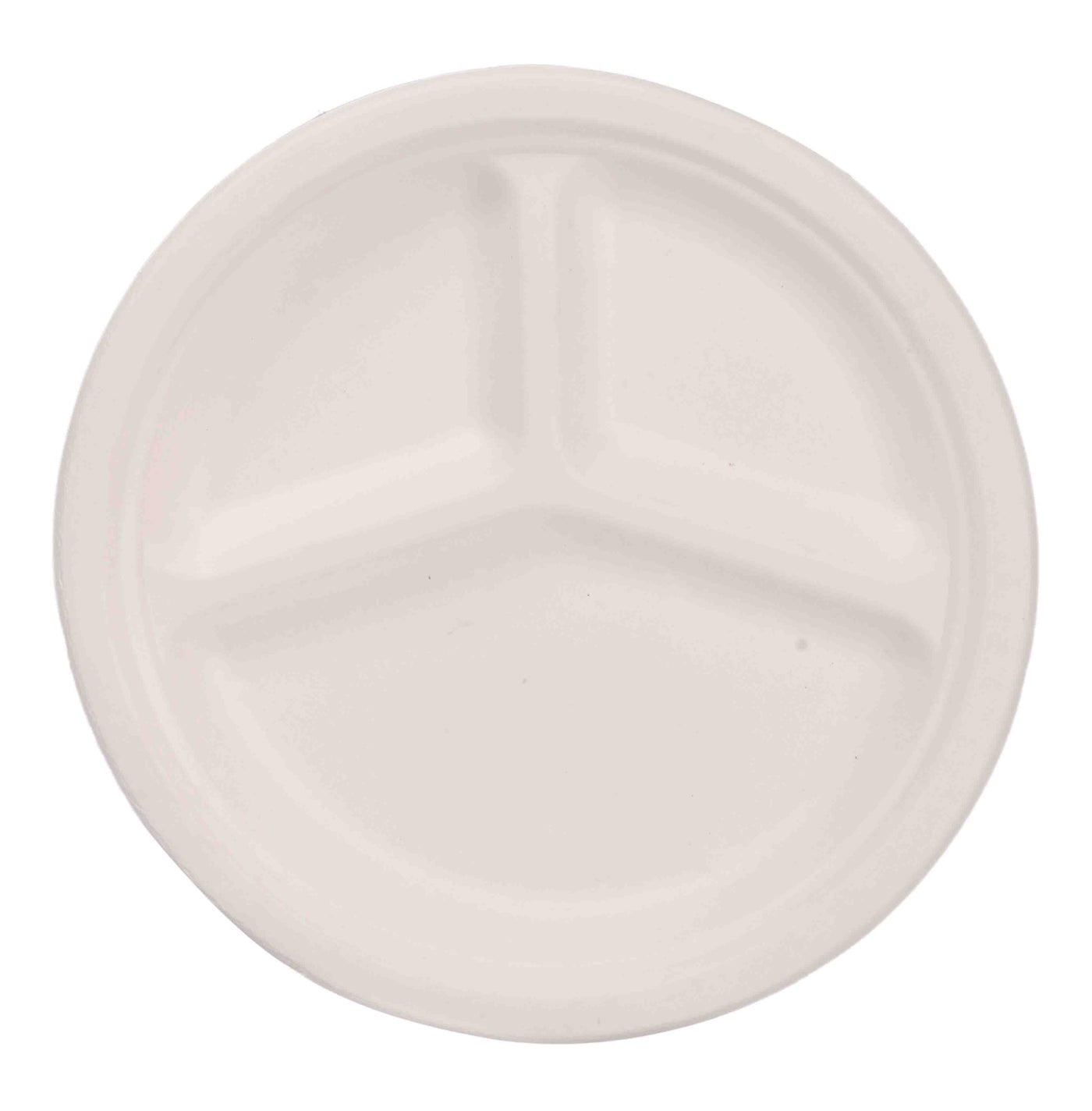 eco friendly 3 compartment disposable plates