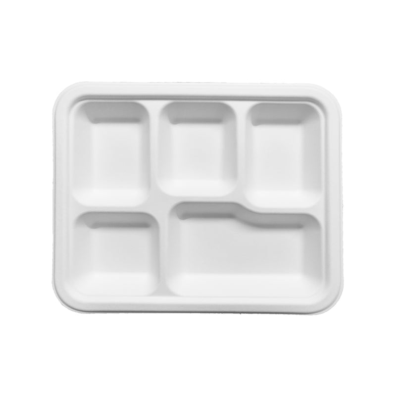 Pappco Greenware Five Way Lunch Plate (Pack Of 20)
