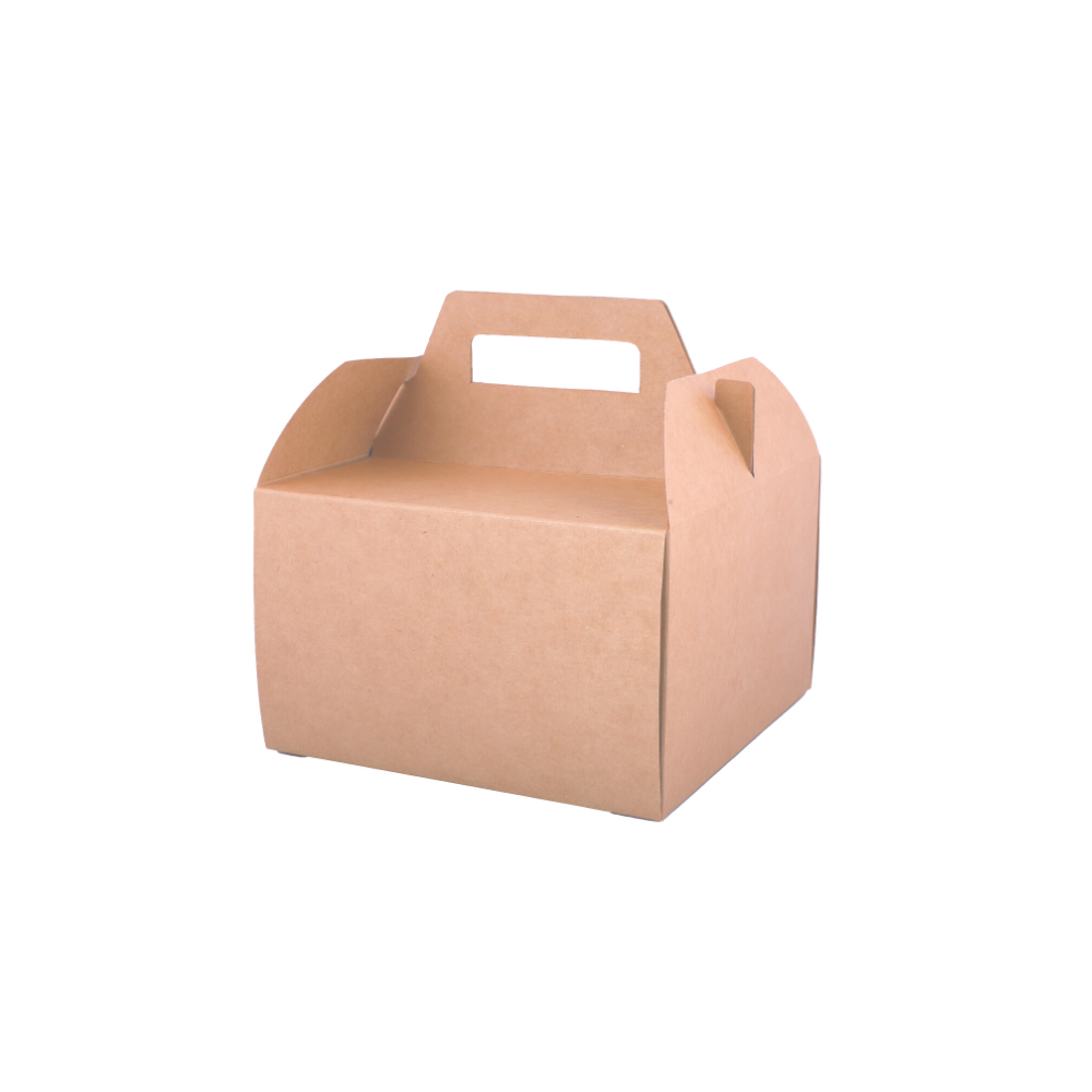 Half kg Cake Box Packaging with Handle