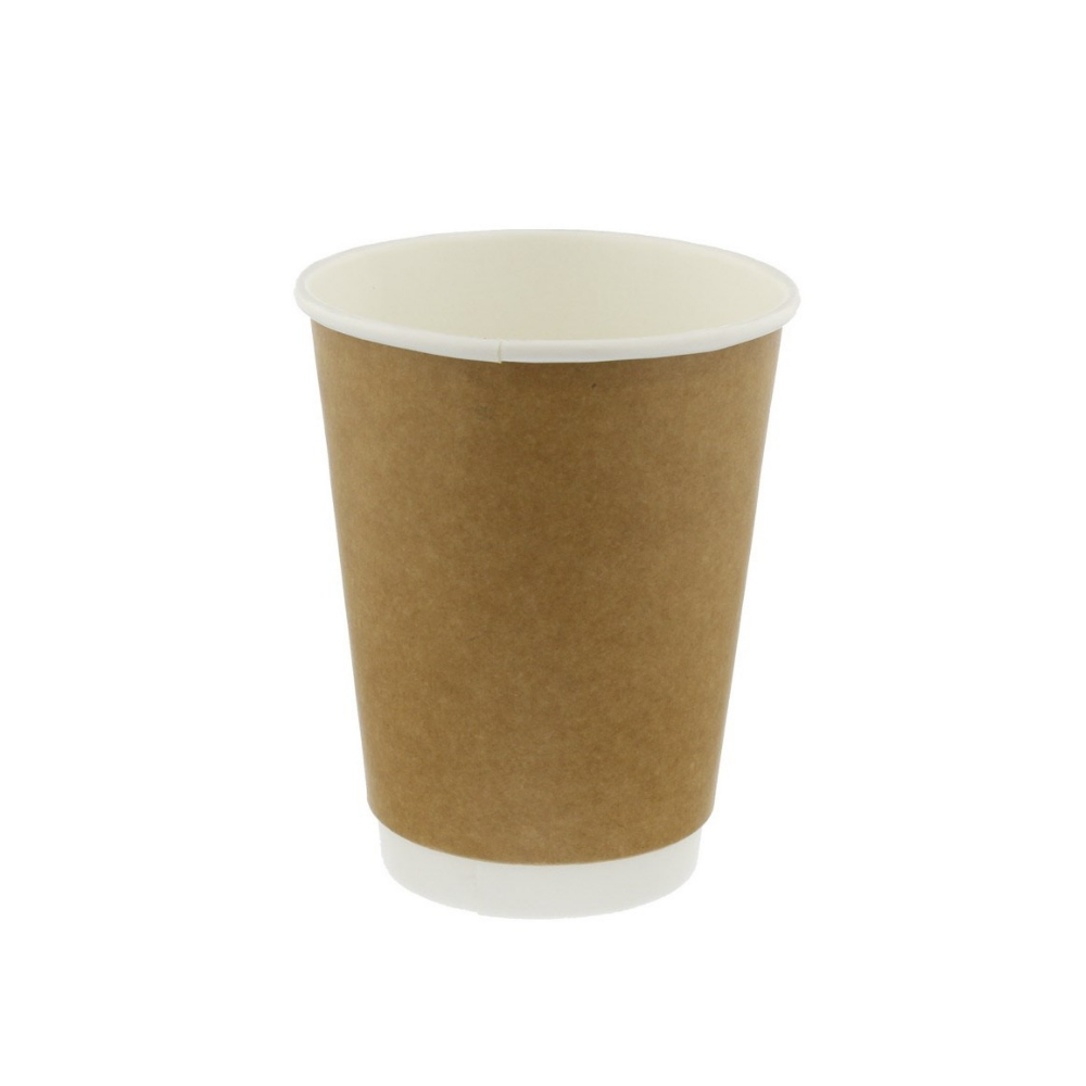 8oz 250ml Brown Paper Glass for Coffee Takeaway