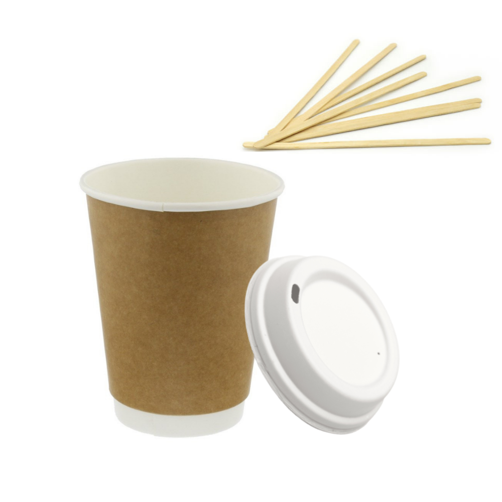 Disposable Coffee Cup With Lids for Coffee Takeaway & Delivery