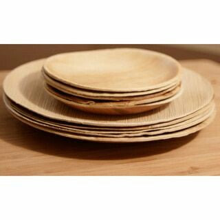 Pappco Greenware Areca Big Round Plate (Pack of 20 )