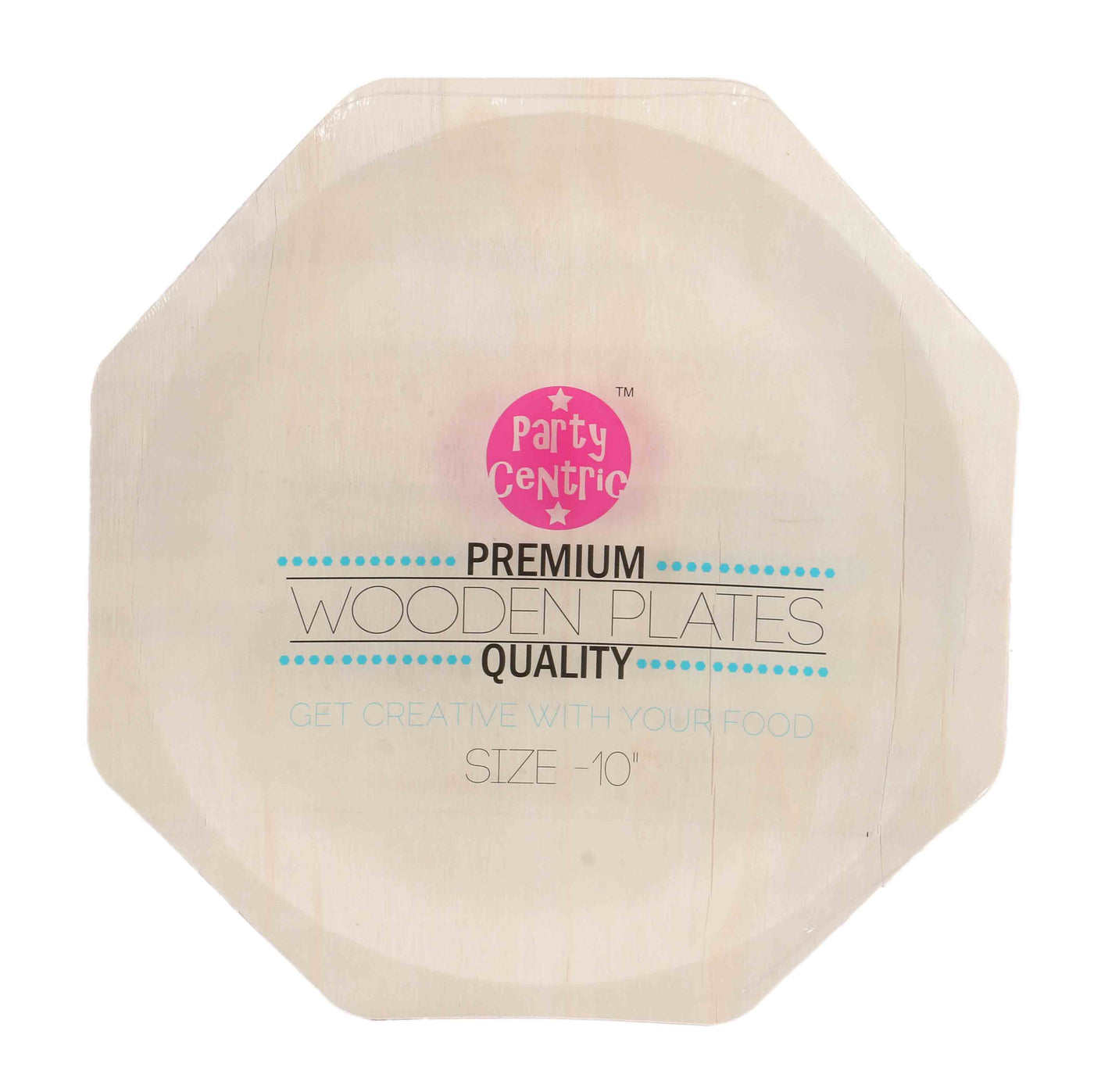 Party Centric 10 Inch Wooden Hexagonal Plate Pack Of 500