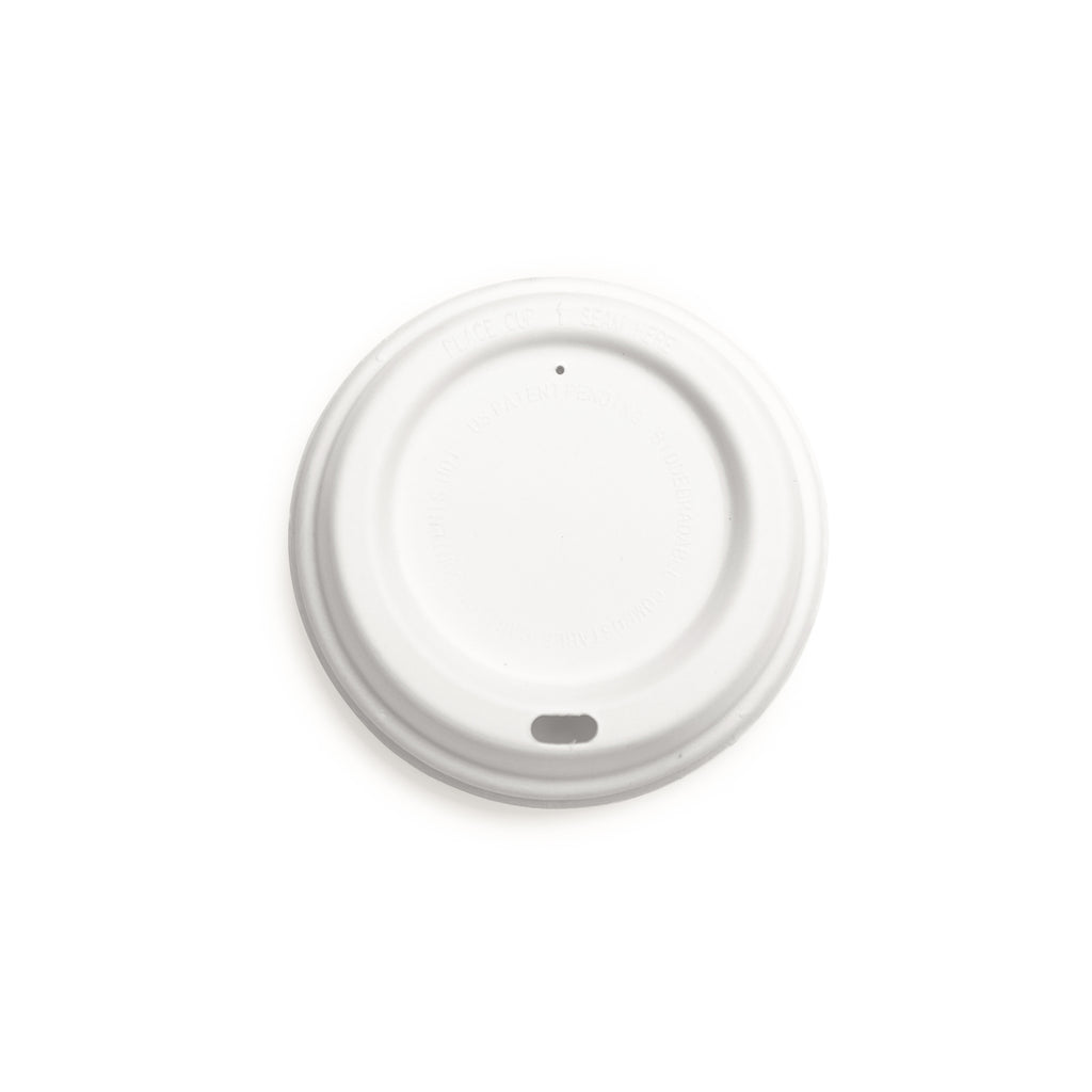 12oz White Biodegradable Coffee Takeaway Lids