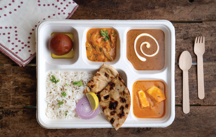 Thali Packing box with lid for takeaway & delivery