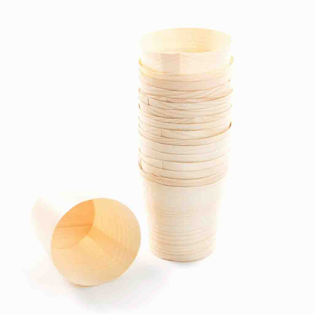 Party Centric Wooden Cups 55ml (Pack of 5 )