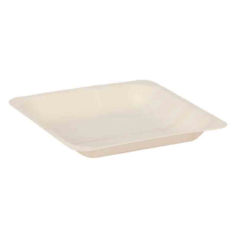 Party Centric 6 Inch Wooden Square Tray (Pack Of 500)