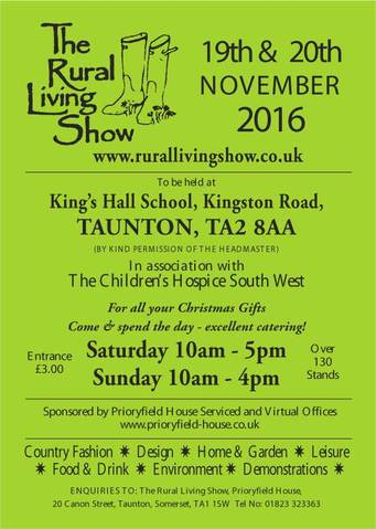 Rural Living Show November 19th & 20th November 2016