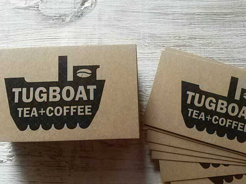 Tugboat Tea + Coffee Business Cards
