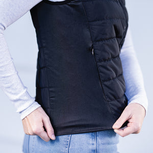 Heated Vest stretchable side gusset