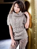 Women's Hand Knit Cowl Neck Sweater 37H - KnitWearMasters