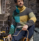 Men Hand Knit Turtleneck Sweater 254B - KnitWearMasters