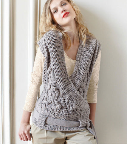 Womens Hand Knit Wool Vest 41N
