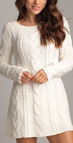 Women's Hand Knitted Dress 1E - KnitWearMasters