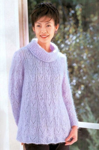 Women's Hand Knit Mohair Sweater 70H - KnitWearMasters