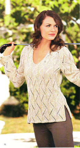 Women's Hand Knit V-neck Sweater 34J - KnitWearMasters