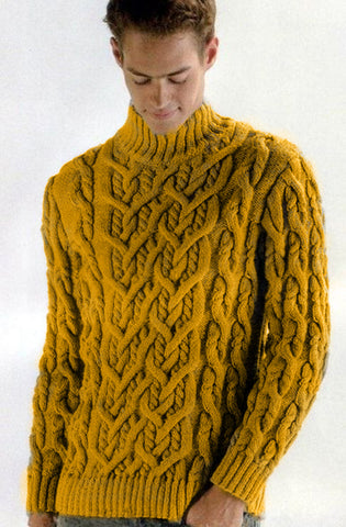 Men Hand Knit Turtleneck Sweater 210B - KnitWearMasters
