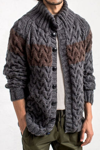 MADE TO ORDER Men hand knit cardigan 147A - KnitWearMasters