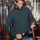 Men's Hand Knit Crewneck Sweater 249B - KnitWearMasters