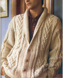 MENS HAND KNITTED WOOL CARDIGAN 92A - KnitWearMasters