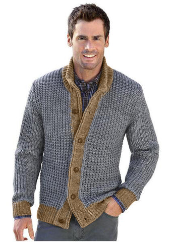 MADE TO ORDER MEN HAND KNIT JACKET 122A - KnitWearMasters